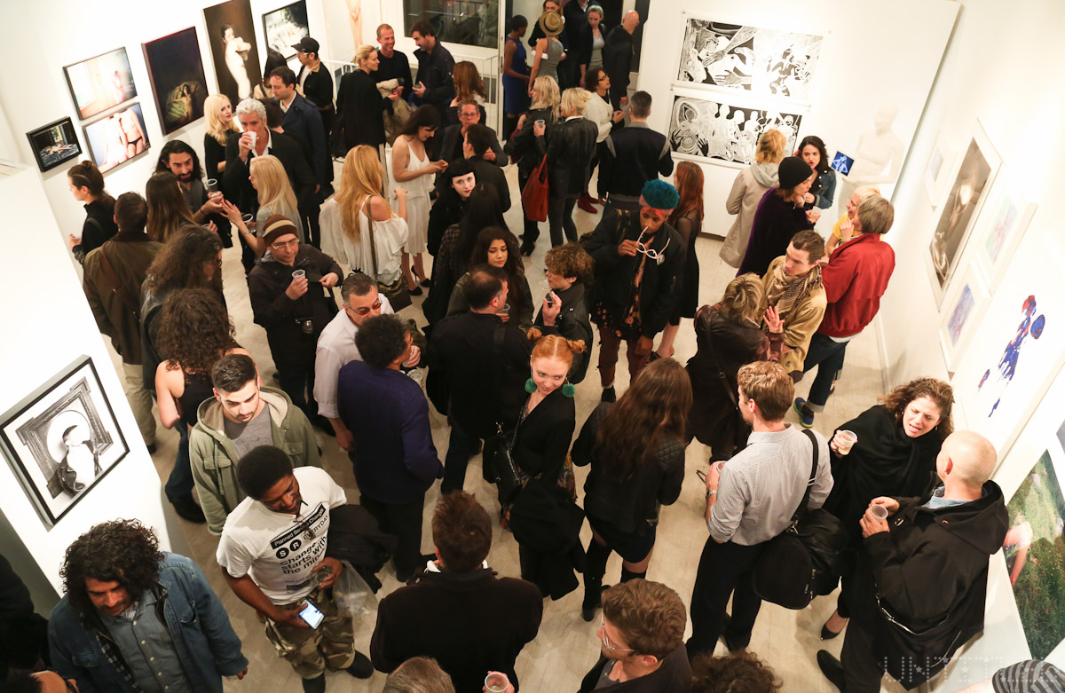 """In The Raw: The Female Gaze on The Nude"" Exhibit Opening - The Untitled Space Gallery, New York. Photography by Dustin Wayne Harris"