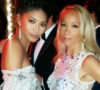 Indira Cesarine and Chanel Iman at amfAR Cannes 2016 After Party