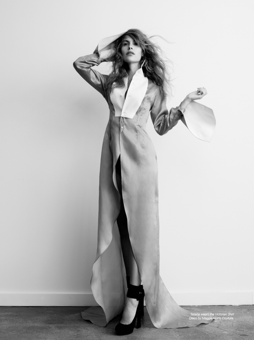 Tatiana wears the Victorian Shirt Dress by Maggie Norris Couture.