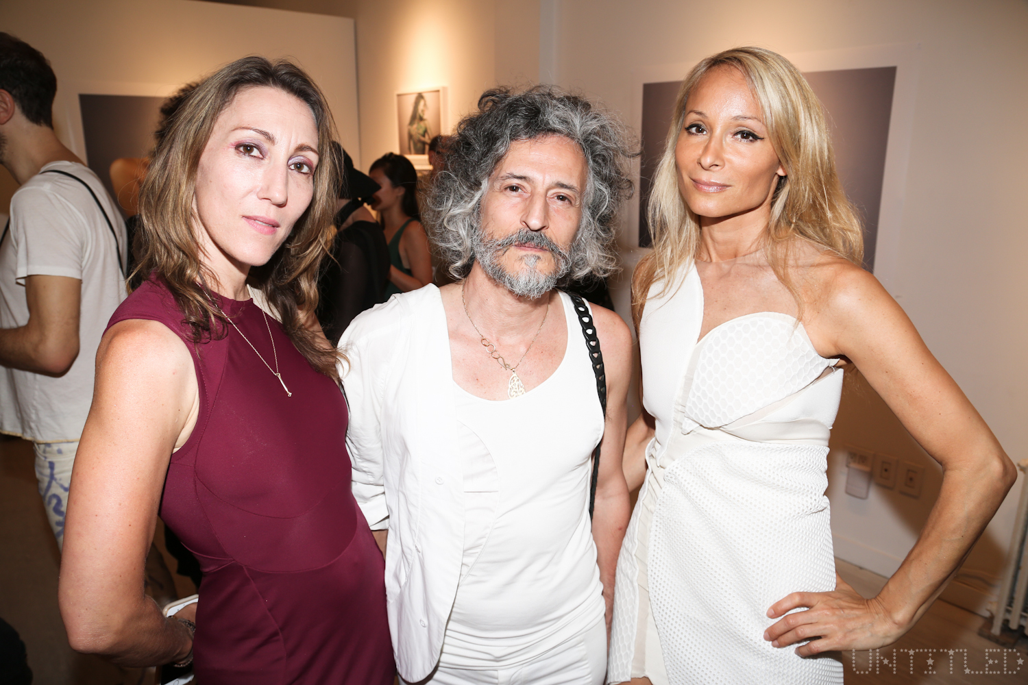"""""""Cardiac Insomniac"""" Artist Reception. A Solo Show of Works by ANGE aka Angela Donhauser - June 2016 - The Untitled Space gallery, New York. Photography by Dustin Wayne Harris."""