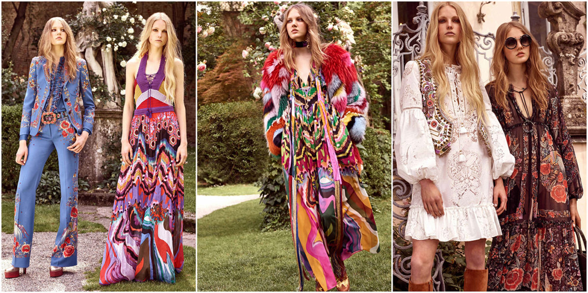 Cavalli's bohemian themed collection is the ideal summer wardrobe. Courtesy of Roberto Cavalli.