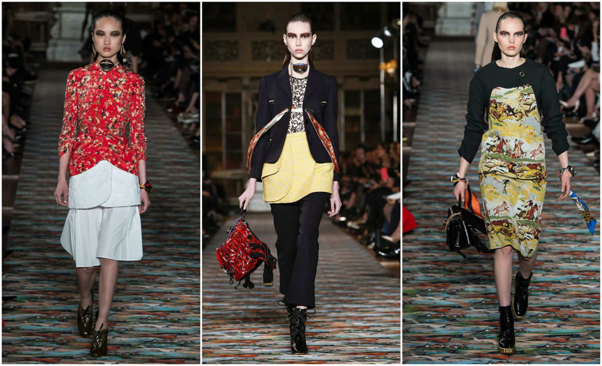 Dior took the print-on-print trend to a new level by matching the resort looks to the runway carpet. Courtesy of Yannis Vlamos.