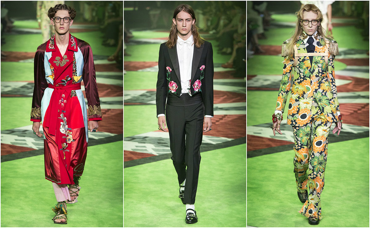 Gucci SS17 Collage