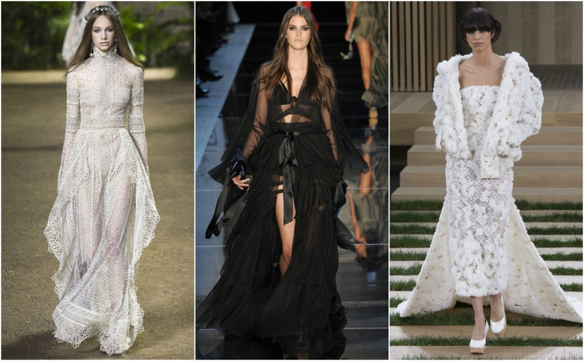 Spring 16 Haute Couture (from left to right: Elie Saab, Alexandre Vauthier, Chanel)