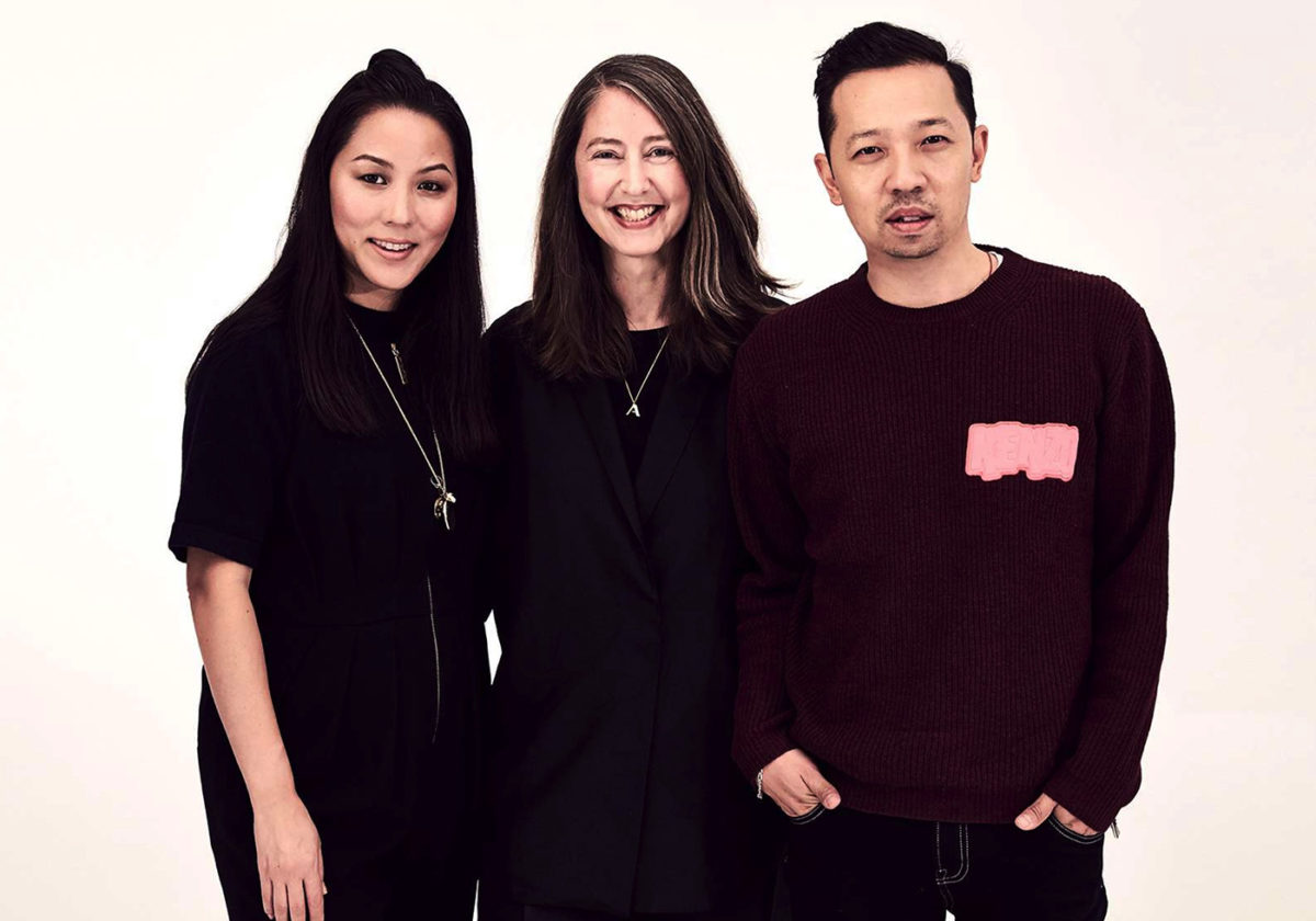 From Left: Carol Lim, Ann-Sofie Johansson of H&M, and Humberto Leon. Courtesy of H&M.