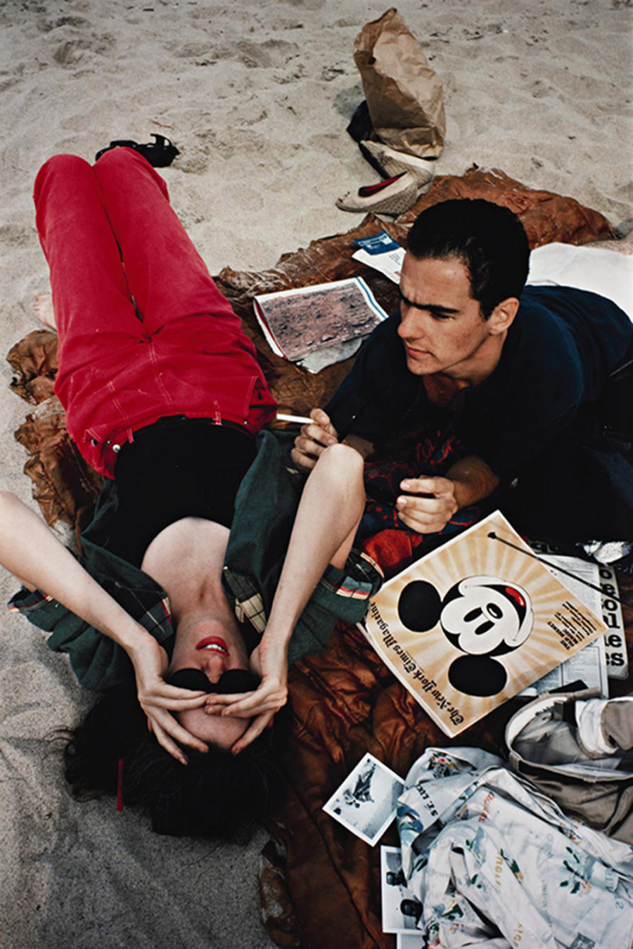 Nan Goldin, C.Z. and Max on the Beach, 1976