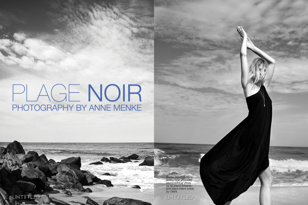 """Plage Noir"" Photography by Anne Menke for The Untitled Magazine"