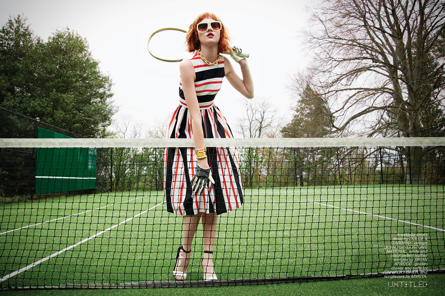 """Tennis Girls"" The Untitled Magazine Photography Liz Von Hoene"