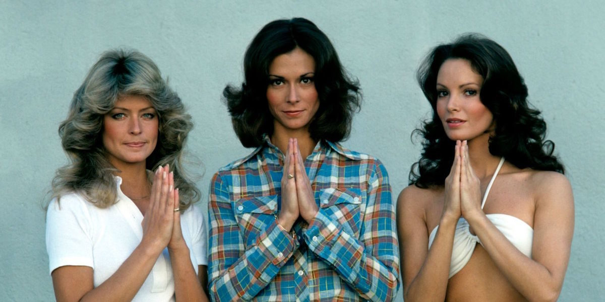 The Original Charlie's Angels. From the left: Farrah Fawcett, Kate Jackson, and Jaclyn Smith