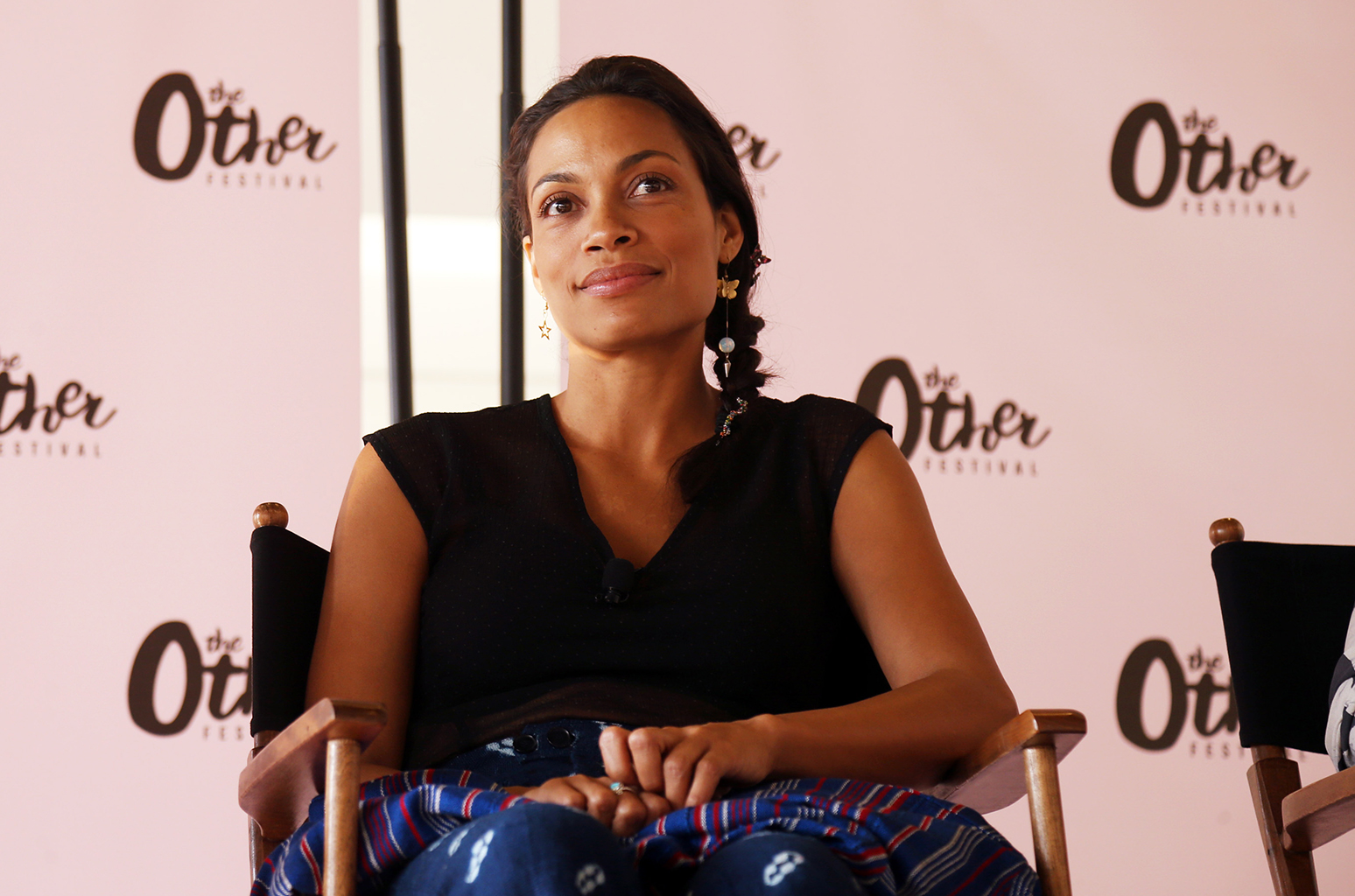 NEW YORK, NY - JUNE 11: Rosario Dawson appears onstage during The Other Festival at Spring Studios Brooklyn on June 11, 2016 in New York City. (Photo by Johnny Nunez/WireImage)