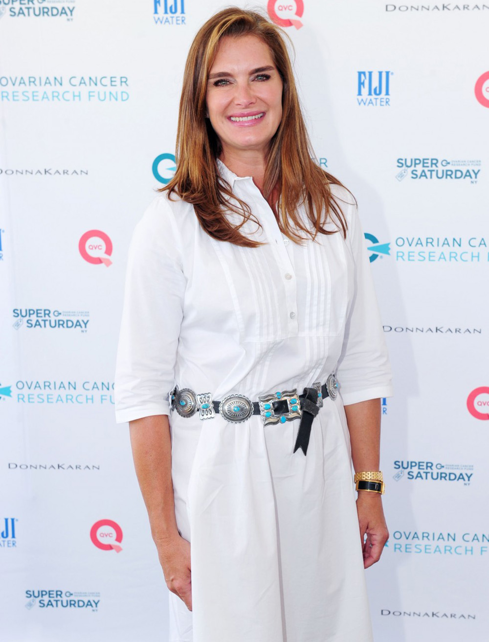 "The Untitled Magazine's ""Legendary"" Issue 7 covergirl, Brooke Shields, attended Super Saturday NY 2015."