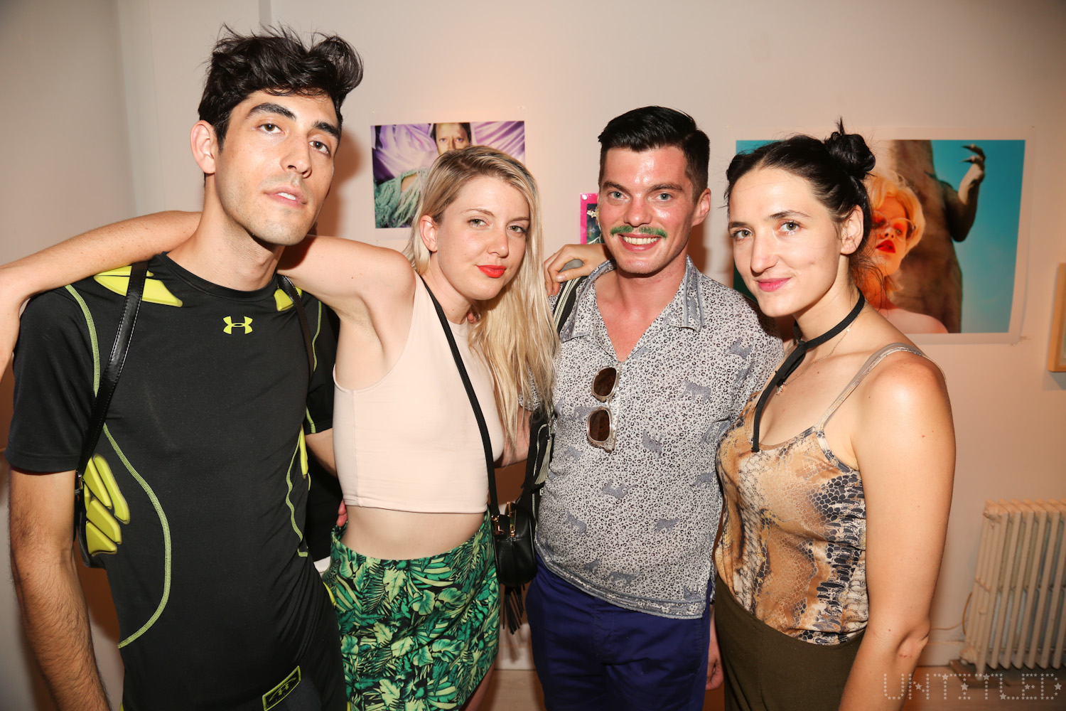 """""""LIFEFORCE"""" Exhibit Opening, The Untitled Space Gallery, New York. Presented by Indira Cesarine, Curated by Kelsey & Remy Bennett. Photography by Dustin Wayne Harris."""