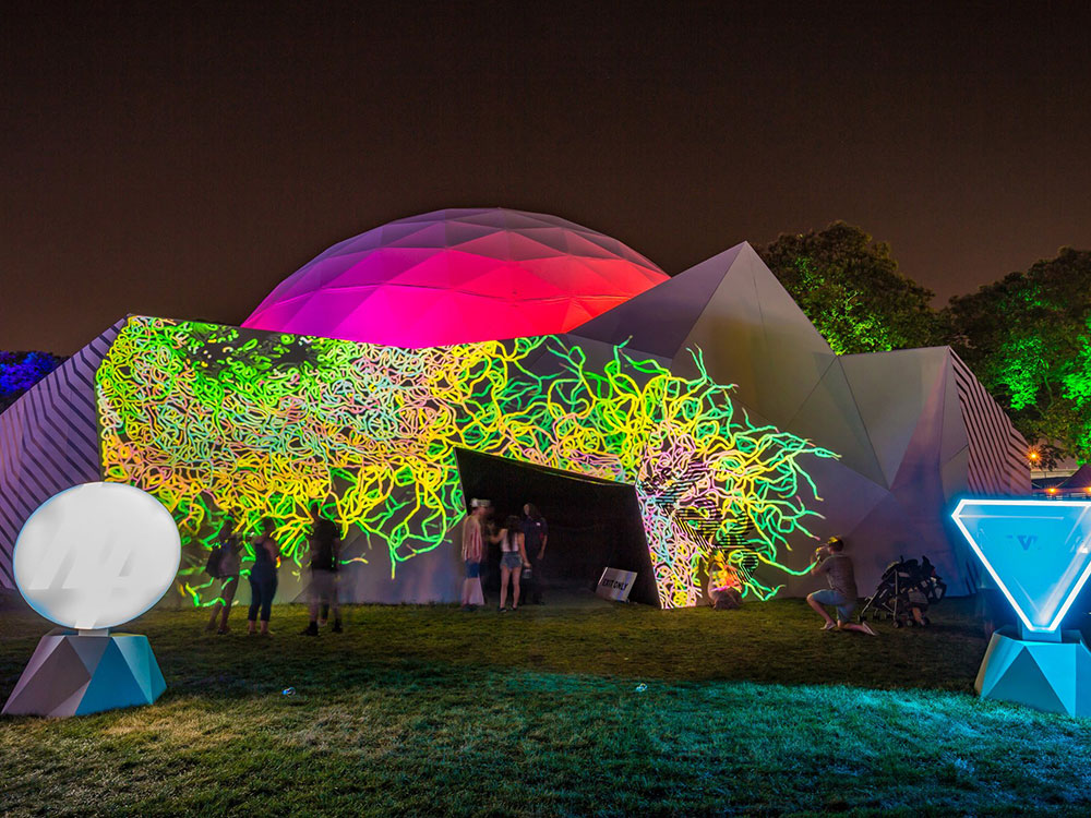 Technology, music, and art collided in The Lab at Panorama Music Festival