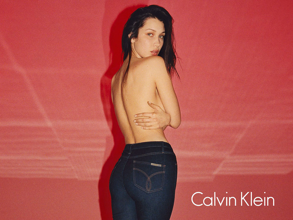 Bella Hadid in Calvin Kleins Fall '16 campaign, shot by Tyrone Lebon.