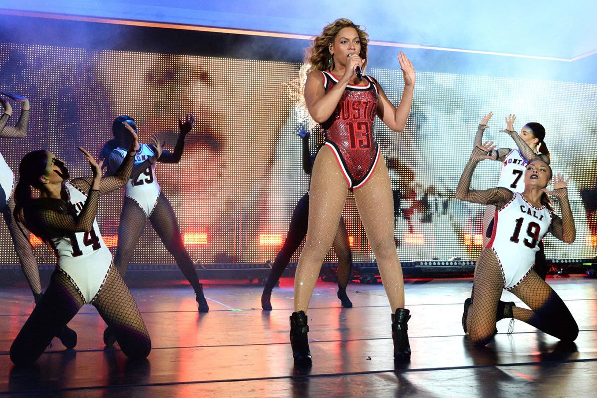 Beyonce performing at the 2015 Global Citizen Festival