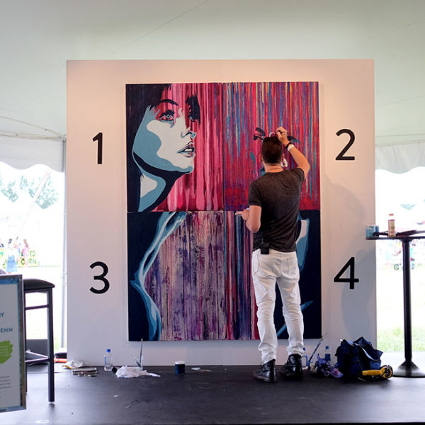 Jeremy Penn, painting on-site at Super Saturday NY 2016.