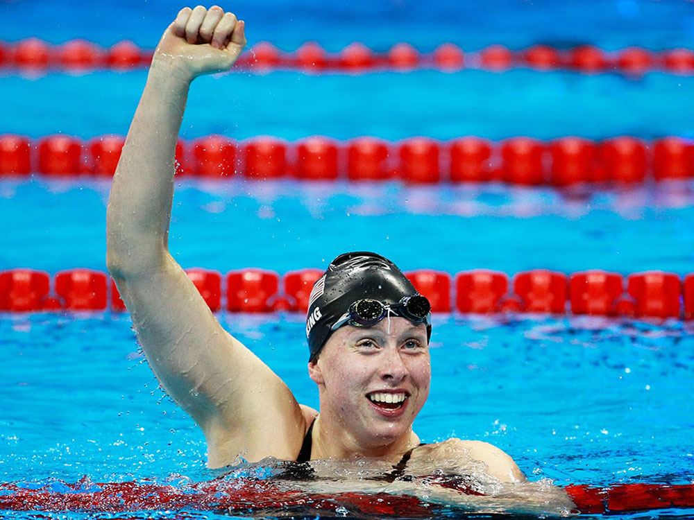 Lilly King at the 2016 Rio Olympics. Image courtesy of Getty.