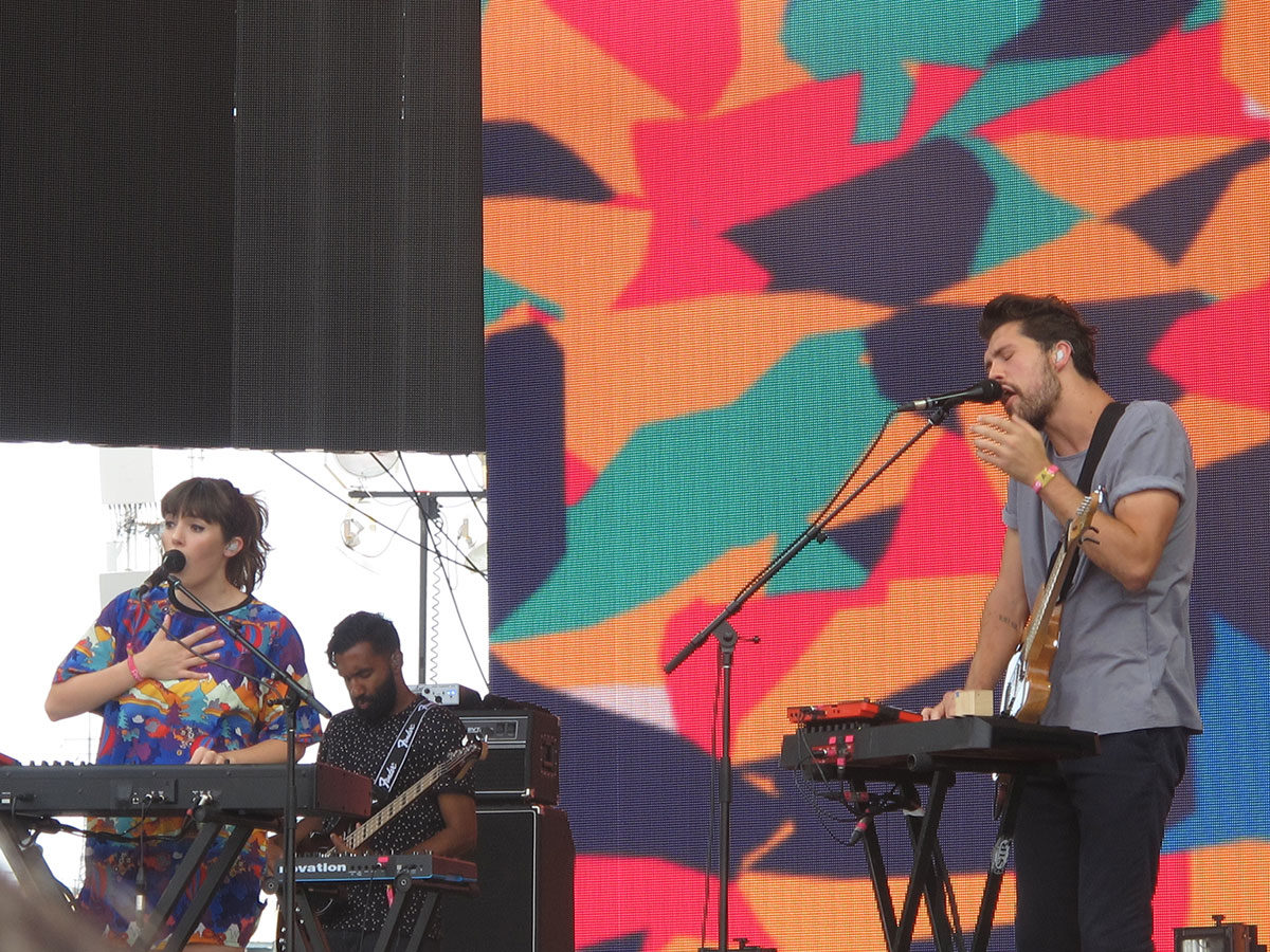 Oh Wonder performing at Panorama Music Festival in NYC on July 23, 2016.