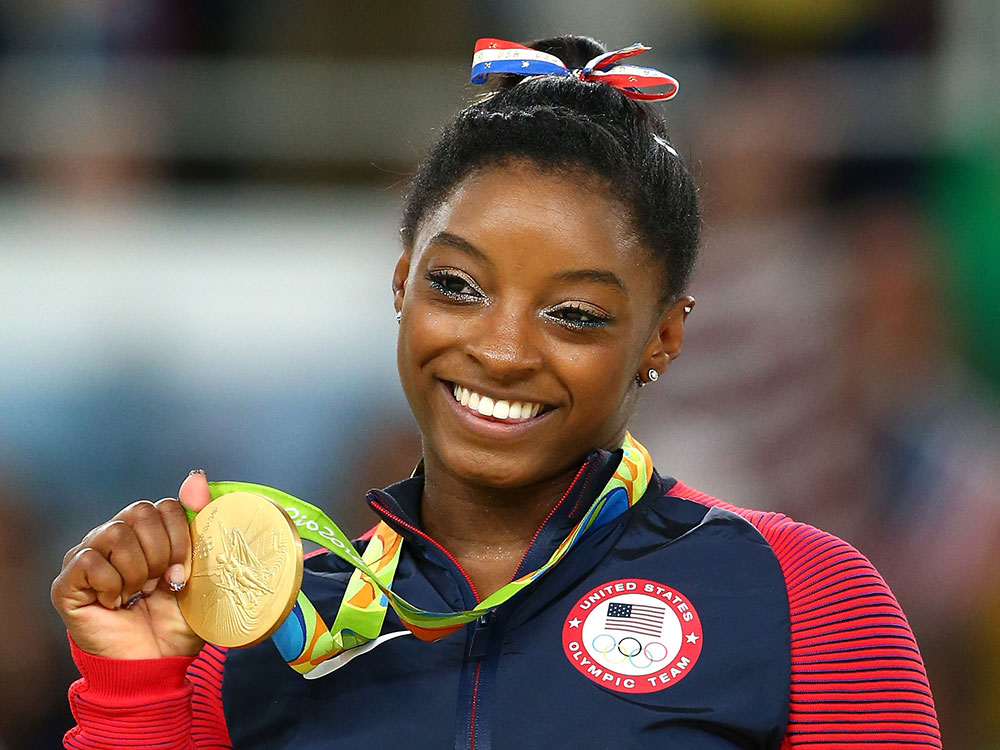 Simone Biles. Image courtesy of Getty.