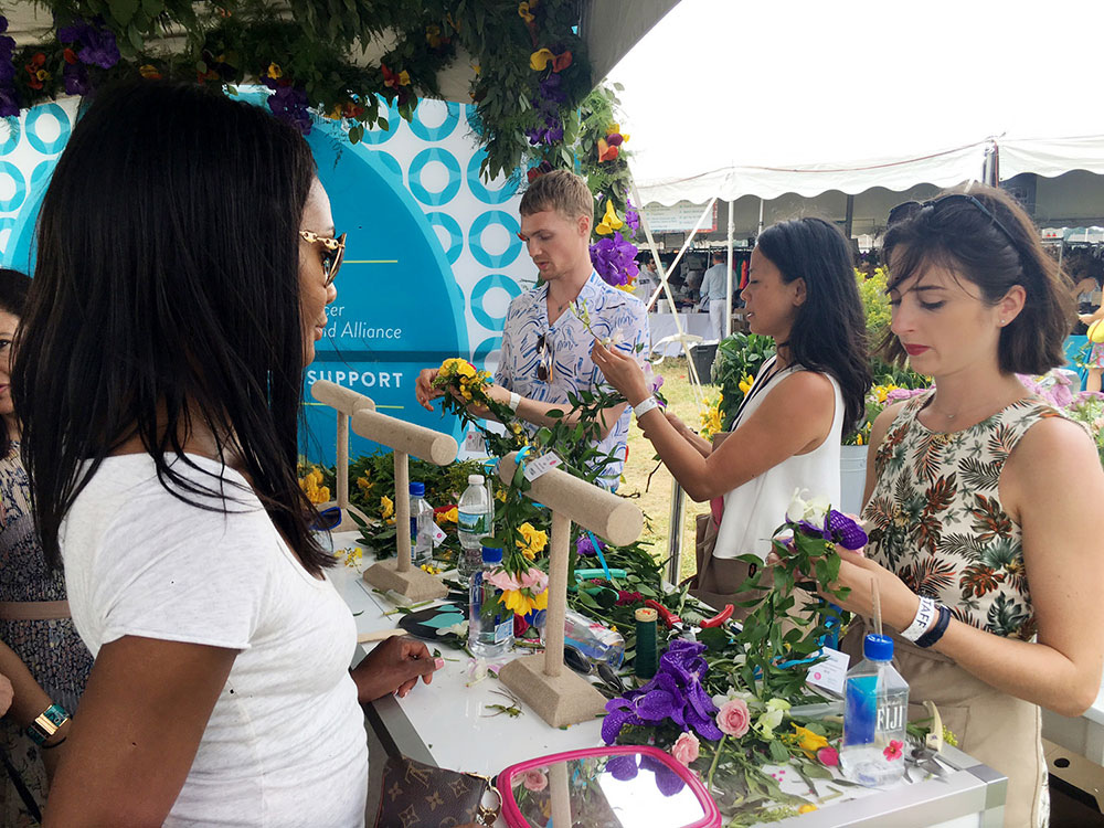 Flower crown making at Super Saturday NY 2016