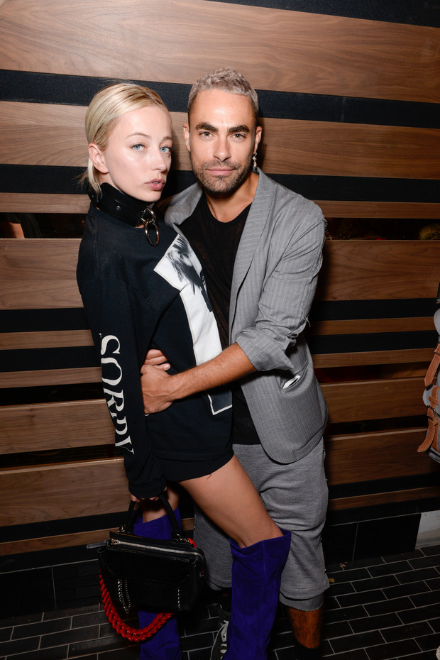 NEW YORK, NY - SEPTEMBER 13:  Caroline Vreeland and guest attend Interview & Topshop Celebrate the Interview September Issue on September 13, 2016 in New York City.  (Photo by Presley Ann/Patrick McMullan via Getty Images)