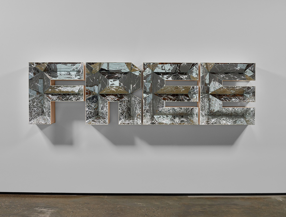 "Doug Aitken, ""Free"" 2016. High density foam, wood and mirror. Courtesy of Victoria Miro Gallery"