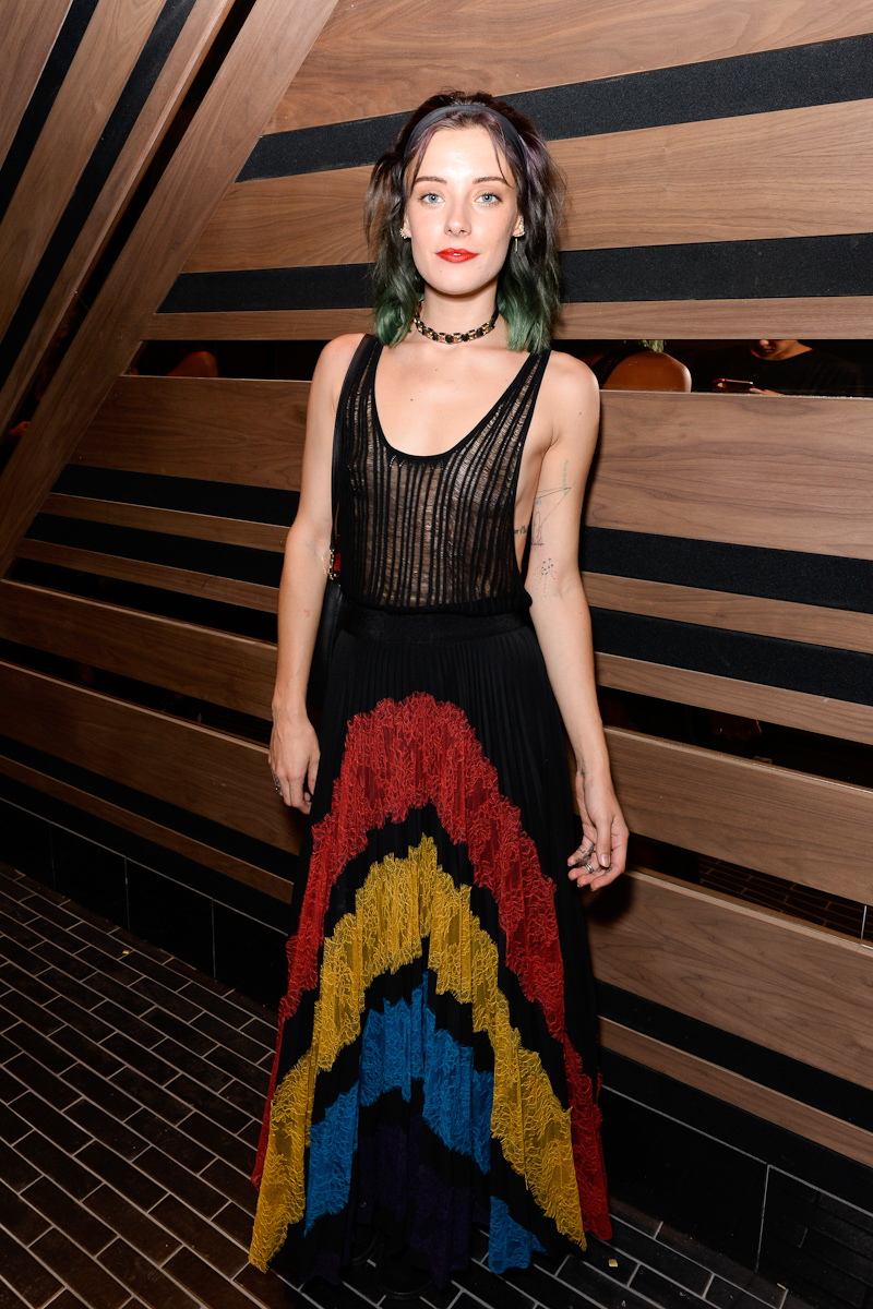 NEW YORK, NY - SEPTEMBER 13:  Chloe N¿rgaard attends Interview & Topshop Celebrate the Interview September Issue on September 13, 2016 in New York City.  (Photo by Presley Ann/Patrick McMullan via Getty Images)
