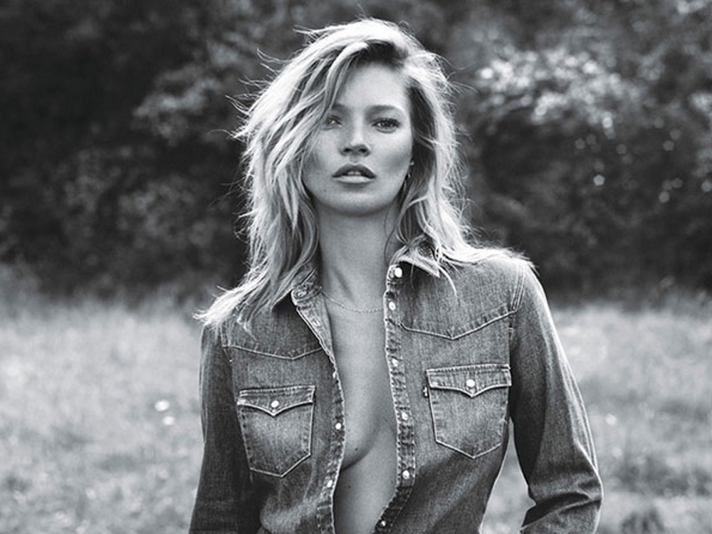 The Kate Moss Agency website currently features this image of the supermodel. Image courtesy of katemossagency.com