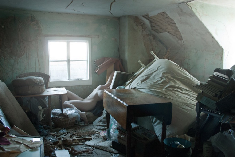 "'Christie's Attic' by Polly Penrose, featured in ""SELF REFLECTION"" Exhibit, Untitled Space Gallery, New York"