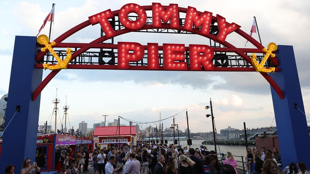 The pier entrance at Tommy Hilfiger's show. Image courtesy of the brand.