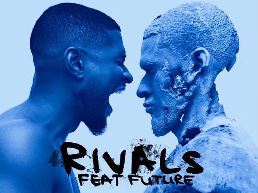 """Rivals Feat. Future"" cover art by Daniel Arsham. Arsham has created the cover art for all of Usher's recent singles as well as his forthcoming album, 'Hard II Love.'"