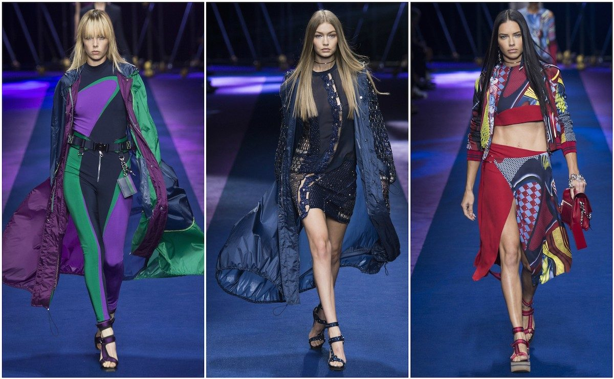 Versace SS'17, images courtesy of Vogue.