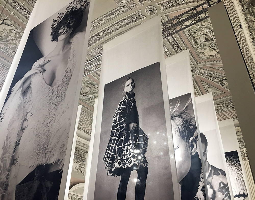 Karl Lagerfeld's photography exhibition, Visions of Fashion, is on display at the Pitti Palace in Florence, Italy through October 23rd.