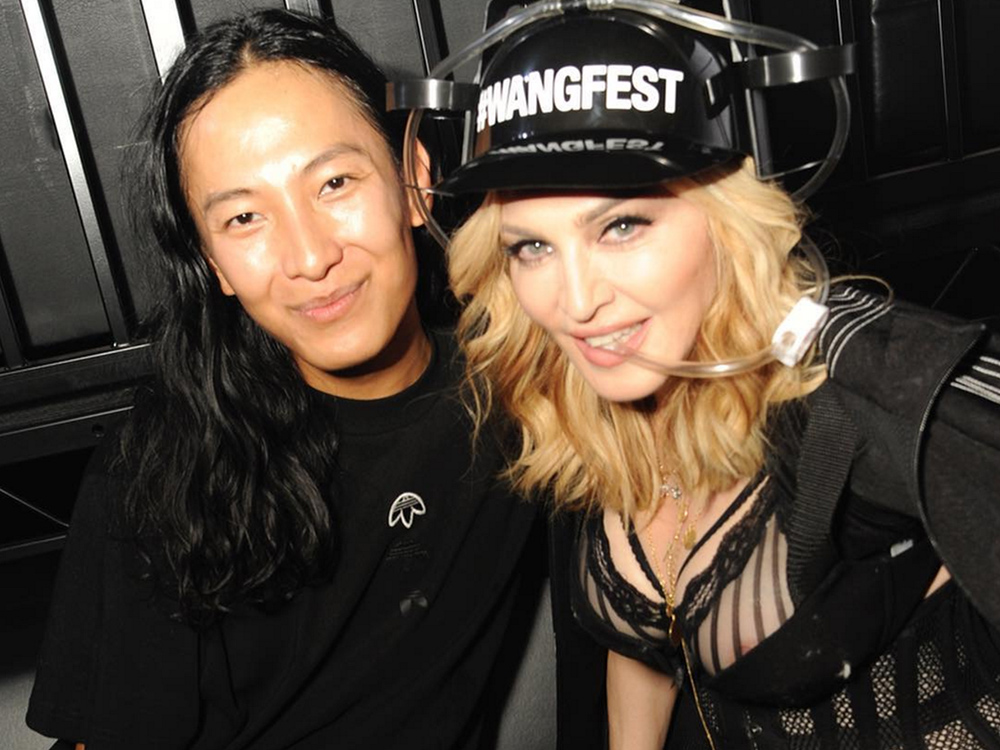 Alexander and Madonna (wearing AdidasOriginal x AW) at the designer's SS'17 after party.