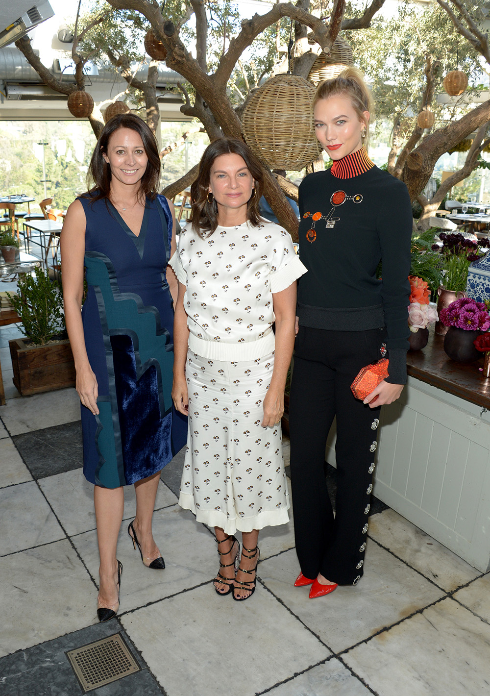 (L-R) Chief Executive of the British Fashion Council Caroline Rush, British Fashion Council Chairwoman Natalie Massenet, and fashion model Karlie Kloss attend The Fashion Awards 2016 Official Nominees Announcement Brunch at Soho House on October 25, 2016 in West Hollywood, California. (Photo by Matt Winkelmeyer/Getty Images for The British Fashion Council)