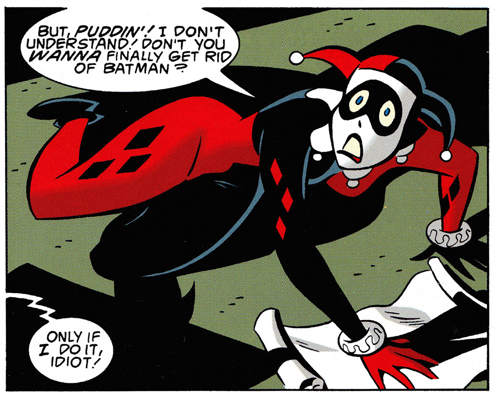Comic square from The Batman Adventures: Mad Love. Courtesy of DC Comics.