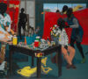 Kerry James Marshall (American, born Birmingham, Alabama 1955) Untitled (Studio), 2014 Acrylic on PVC panels; 83 5/16  × 119 1/4 in . (211.6 × 302.9 cm)  The Metropolitan Museum of Art, New York, Purchase, The Jacques and Natasha Gelman Foundation Gift, Acquisitions Fund and The Metropolitan Museum of Art Multicultural Audience Development Initiative Gift, 2015  (2015.366) http://www.metmuseum.org/Collections/search-the-collections/669451