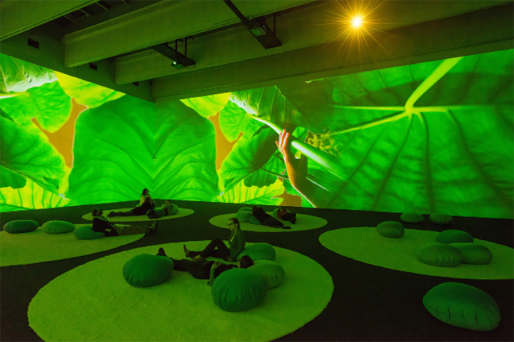 "Pipilotti Rist, Gnade Donau Gnade (Mercy Danube Mercy), 2013/15. Installation view: ""Komm Schatz, wir stellen die Medien um & fangen nochmals von vorne an,"" Kunsthalle Krems, Austria, 2015. Courtesy the artist, Hauser & Wirth, and Luhring Augustine. Photo: Lisa Rast"