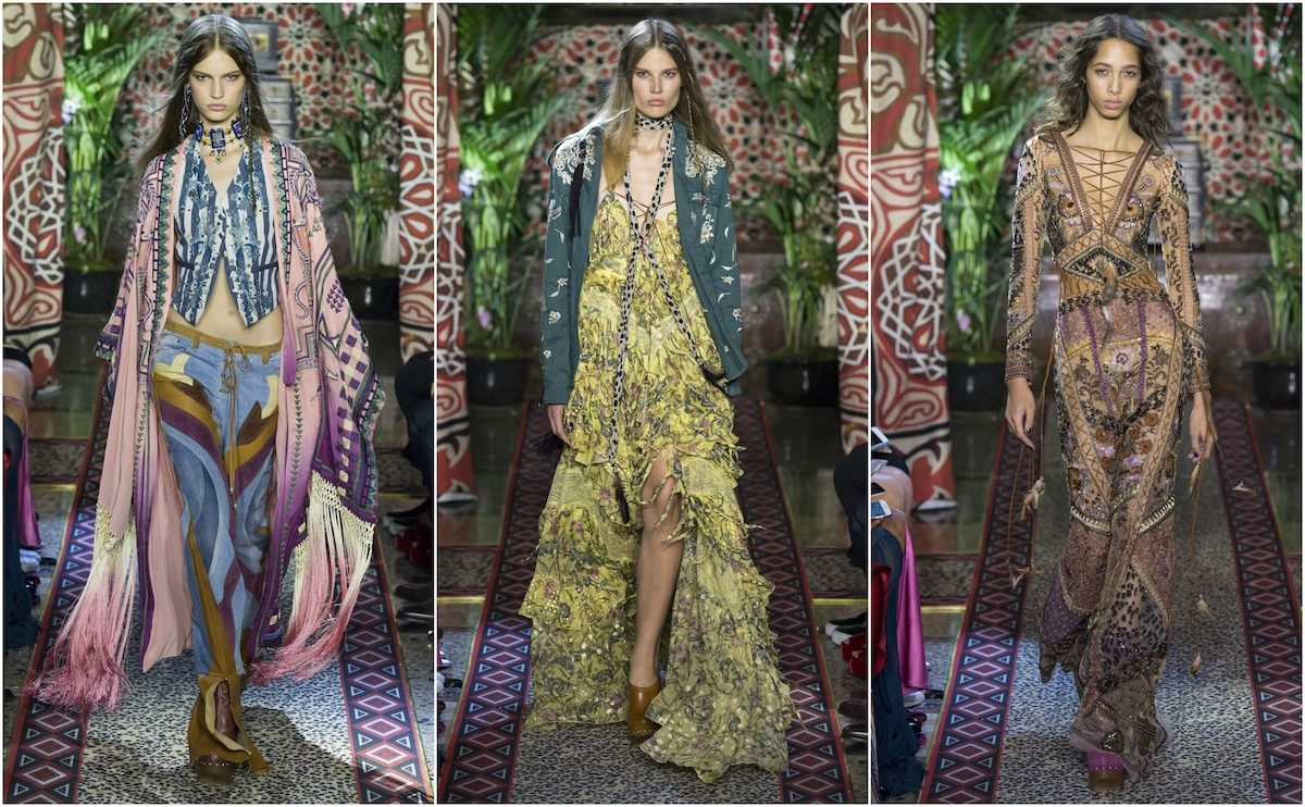 Roberto Cavalli SS'17. Images courtesy of Vogue.