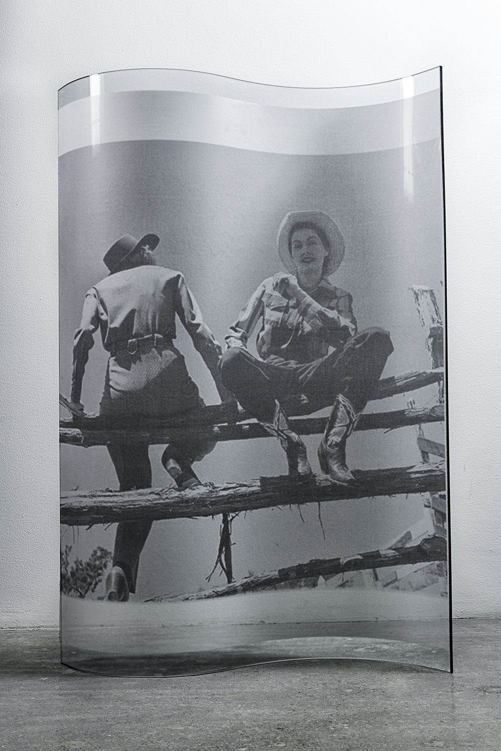 Untitled (Two Women on a Fence) by Servance Mary. Image courtesy of Missoni.