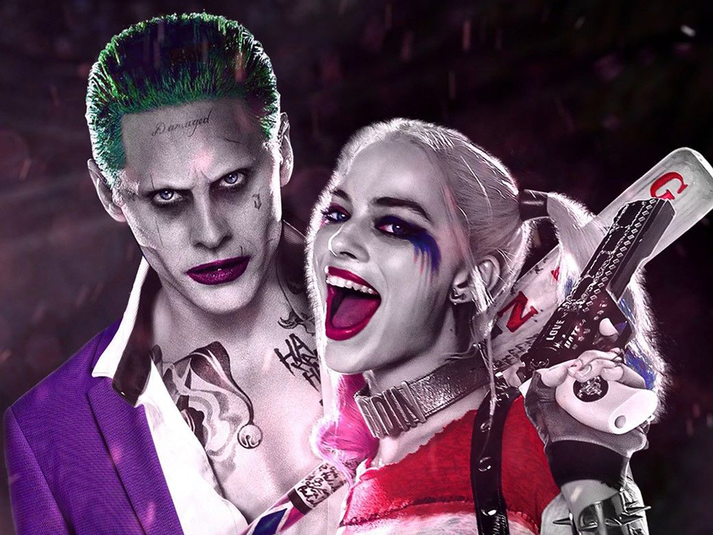 Margo Robbie as Harley Quinn and Jared Leto as The Joker in the 'Suicide Squad' movie. Courtesy of DC Entertainment Inc.