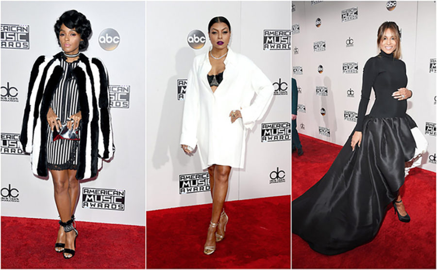 Black and White Outfits of the 2016 AMAs Red Carpet