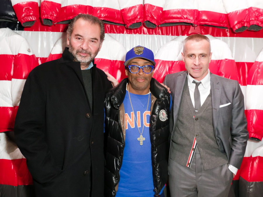Remo Ruffini, Spike Lee and Thom Browne at Moncler's New York Opening