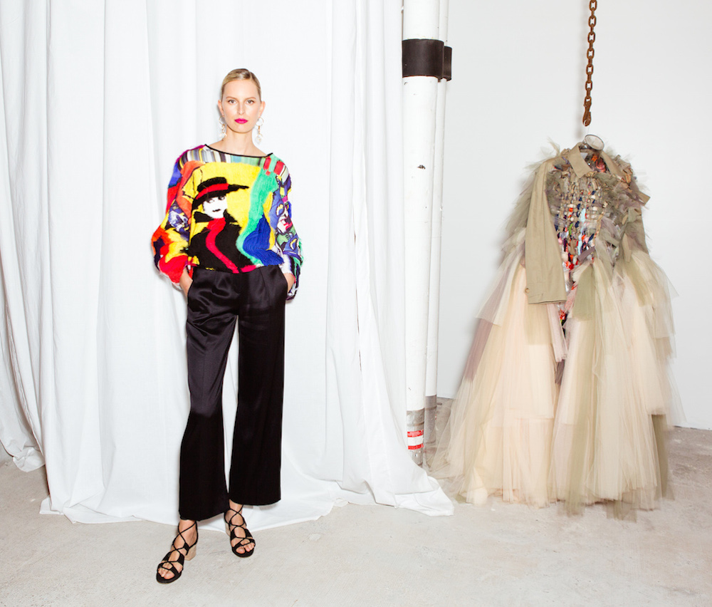 Karolina Kurkova at Maison-de-Mode.com's Pop-Up launch and celebration of Mickalene Thomas, courtesy of BFA.