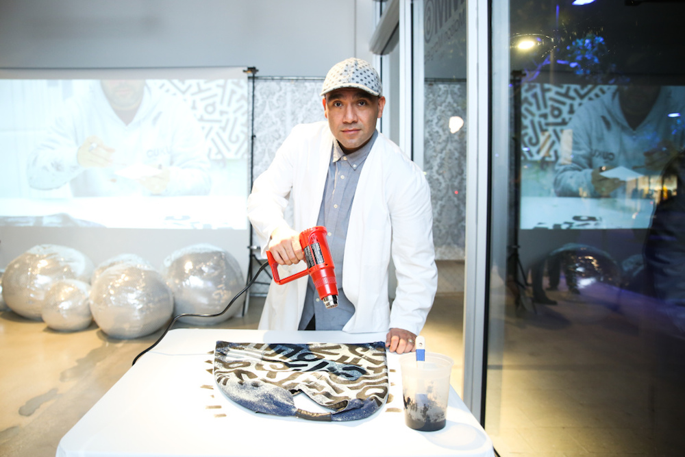 Mandatory Credit: Photo by Sam Deitch/BFA/REX/Shutterstock (7527689i) Aaron De La Cruz MM6 Maison Margiela x Aaron de la Cruz celebrate Miami Art Basel, Miami, USA - 29 Nov 2016