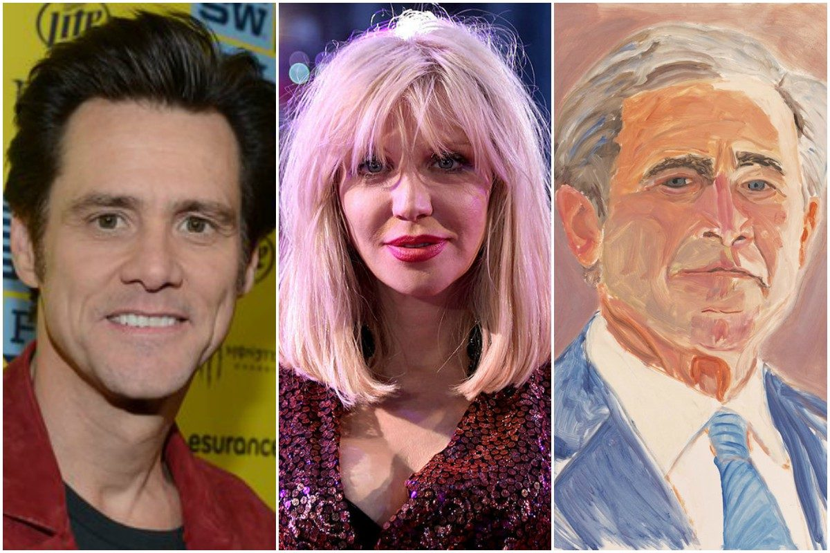 Jim Carrey George W Bush And More Unexpected Artists The